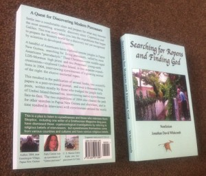 """front and back of the nonfiction book """"Searching for Ropens and Finding God"""" by Whitcomb"""