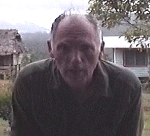 The American cryptozoologist Jonathan David Whitcomb in Papua New Guinea, in 2004, near Gomlongon Village, Umboi Island