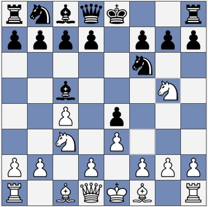 White moved Ng5 to win a pawn