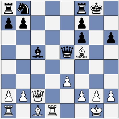 White could get a great kingside attack with e4
