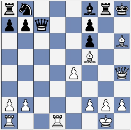 Black should move Rg6, but this is still losing
